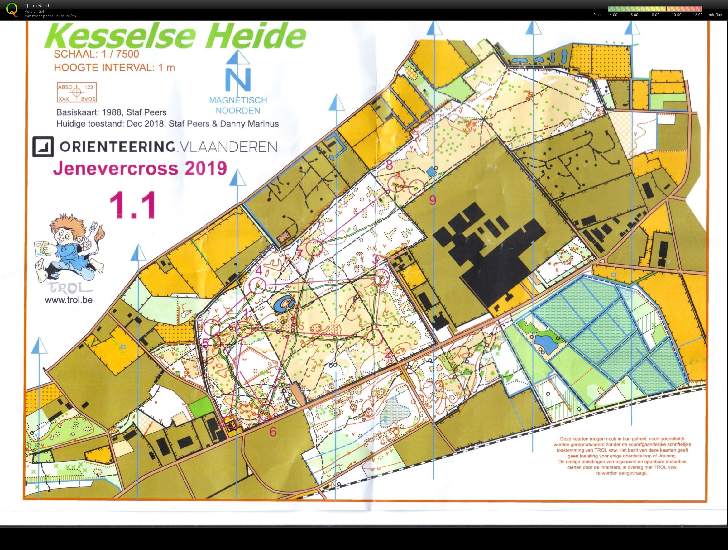 Night Orienteering Kesselse Heide deel 1 (04/01/2019)