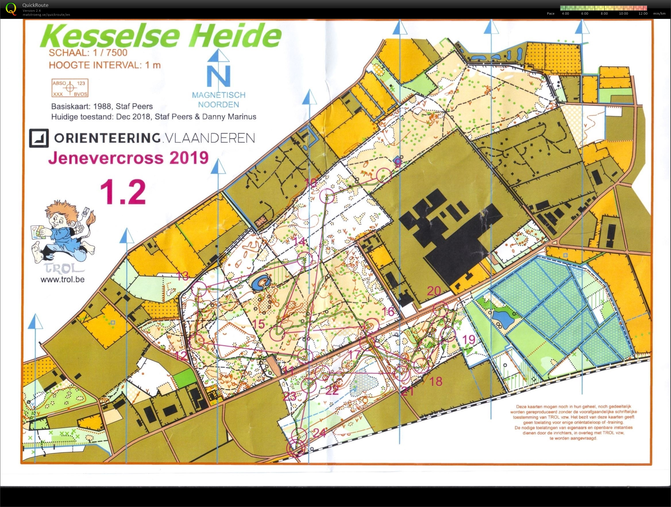 Night Orienteering Kesselse Heide deel 2 (04/01/2019)